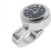 Guajave Moto Manillar Motocicleta Impermeable Mini Soporte Reloj Esfera Reloj - Blanco