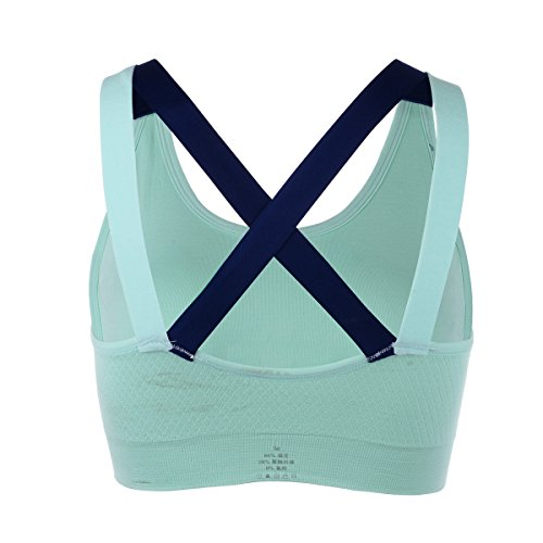 EUFANCE Femmes Filles Élégant Loisirs Yoga Soutiens-Gorge De Sport Brassière Sans Fitness Musculation Jogging Underwear Survêtements Bleu
