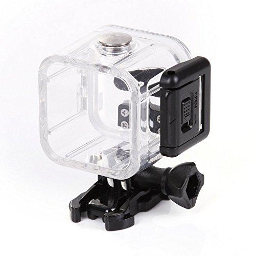 flycoo Custodia Custodia impermeabile per GoPro Hero 5sessione 4sessione fotocamera d' azione chiaro con viti di fissaggio supporto base protezione subacquea 45M