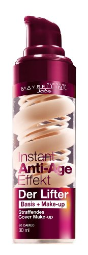 Maybelline New York Instant Anti-Age Der Lifter - 2in1 Basis + Make-Up 20 Cameo, 30 ml