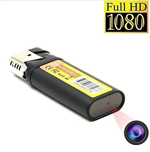 TenSky 1920x1080P HD Elektronisches Feuerzeug Spion Kamera mit Schleife Video Aufnahme Funktion