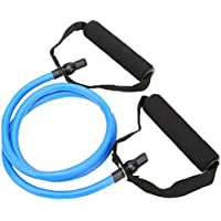 Látex elástico Banda de Resistencia de Pilates del Tubo de tracción por Cable Gimnasio Yoga de la Aptitud Equipo Azul