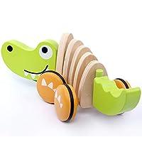 Zhongke Pull Along Puppy & Walk-A-Long Crocodile Multicoloured Pull Toy