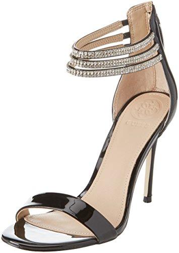 Guess Footwear Dress Sandal, Scarpe col Tacco con Cinturino Dietro la Caviglia Donna, Nero, 39 EU
