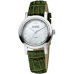 Caleido Crystal Damen-Armbanduhr XS Glamour Analog Leder CAC-04