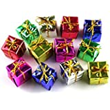 Smartbuyer -24 Pcs Christmas MIX Hanging Decoration Xmas Gifts ,Drum,candy,ball,bell,Christmas And BowChristmas Tree Ornaments :christmas Decorations : CHRISTMAS BELLS|Christmas Tree Decorations Hanging Gift Box ,