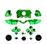 Canamite ® LB RB LT RT Bumpers Triggers Dpad Knöpfe Kit ABXY Chrome Pad Full Buttons für Xbox One Elite Controller (Grün)