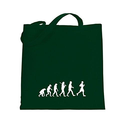 Shirtfun24 Baumwolltasche EVOLUTION JOGGER Jogging laufen, navy (blau) weiss