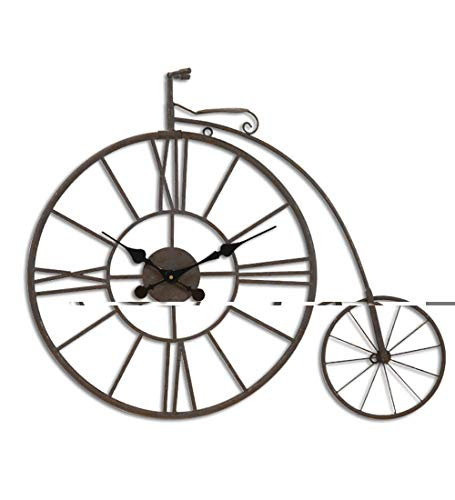 Vintage Iron Reloj Woll Bicicleta Neumático Reloj de Pared Metal Pared Decoración de Pared Batería...