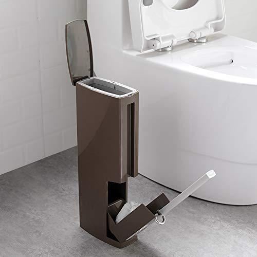 QiXian Kreative Toilettenbürste Mülleimer Papierkorb Integrierter Anzug Badezimmer Ohne Tote Ecktoilette Reinigungsbürste Starkes Robustes - Tote Papierkorb