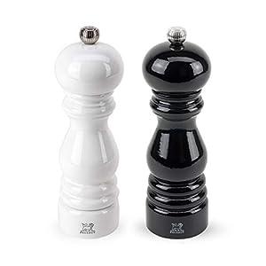 Peugeot Paris Duo Pfeffer- und Salzmühle schwarz/weiß, 18 cm