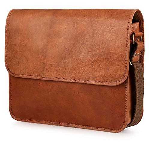 Berliner Bags Ghent Messenger Bag Umhängetasche Schultertasche 15,4 Laptoptasche Ledertasche Leder Herren Damen Braun -