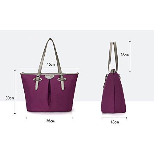 MeCooler Donna Borsetta Vintage Messenger Bag Borsa Tracolla Borse a Spalla Griffate Borse da Viaggio Sacchetto Laptop Tasche per Laptop Studenti Sport Viola