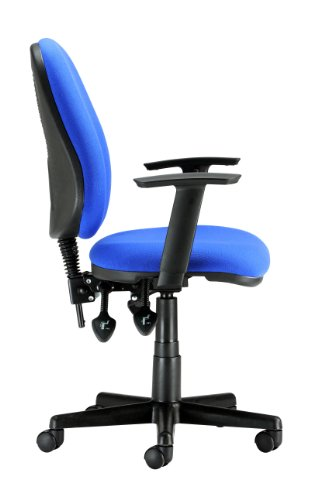 Chairs For Offices 130019BLAA High Back Ergonomic Computer Chair Adjustable Arms Blue Fabric Free 3 day Delivery