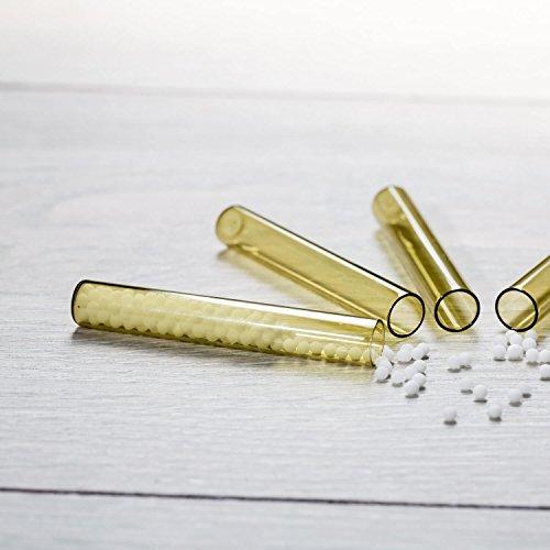 30x leere Reagenzröhrchen für die Taschenapotheke | Braunglas ✓ Inklusive Verschlüsse ✓ Optimal zum Anlegen einer Haushalts- und Reiseapotheke ✓ (30x Braunglas)