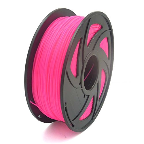 SIENOC 1 Packung 3D Drucker PLA 1.75mm Printer Filament - Mit Spule 1kg (Fluoreszenz Rose Red)