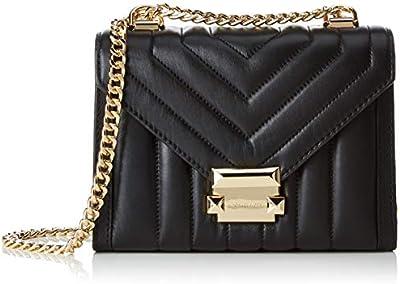 Michael Kors - Whitney Small Shoulder Bag, Shoppers y bolsos de hombro Mujer, Negro (Black), 7.6x13.9x19.6 cm (B x H T)