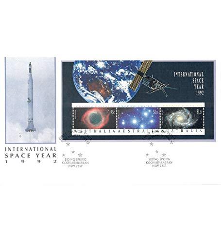 Goldhahn Australien Block 14 FDC Ersttagsbrief Weltraum Briefmarken für Sammler -