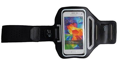 Trendy L Schwarz - Huawei P9 Plus - Sport-Armband für Handy, hochwertige Handy Schutz-tasche für Fitness, Handy-hülle mit Kartenfach - Dealbude24