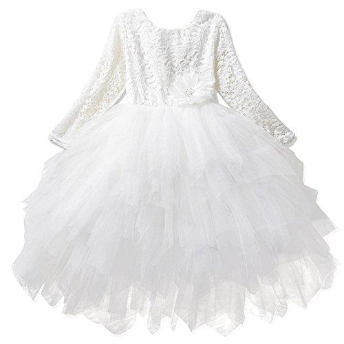 Mädchen Tüllrock Prinzessin Kleid Ballettrock Tutu Petticoat beshope 50er Retro Kinder Kurzarm...