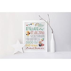 SomethingCute: Geburtsbild Design SUPERMAN / Geschenk zur Geburt, zur Taufe, Taufgeschenk, Geburtsgeschenkt, Fine Art Print