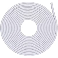 Tuokay 10M de Tira de Protección para Coche Protección de Goma de Puerte de Coche Goma Borde de Coche (Blanco)