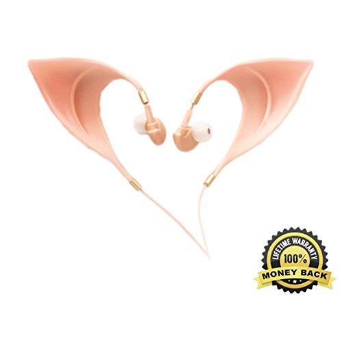 Gemacht Niedlich Kostüm - Elf Niedliche Earbuds Ultra-Weiche Schnur Kopfhörer Fee entzückend Cosplay Headset Geist Kostüm Zubehör Spielzeug EF00001