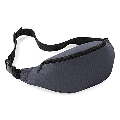 YOZOOE Reise-Sport-Hüfttasche Fanny Packtasche, die Taschen-justierbares Band für Trainings-Urlaub wandern (Farbe : Grau, Size : One) -