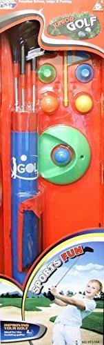 Allkindathings yf310a Kinder Spielzeug Golf Set Bälle Clubs Kinder Garten Spiel Plastik-Stahl Schäfte -