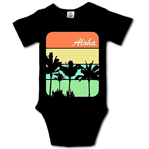 Babybekleidung Jungen Mädchen T-Shirts, Aloha Palm Trees Hawaiian Newborn Baby Boys Clothing Short Sleeve Infant Bodysuit Onesie (Jugend Hawaiian Shirt)