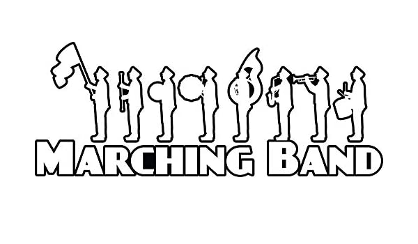 Laptops 4 All Times Marching Band Automotive Car Decal for Cars 8.0 W x 3.1 H Trucks