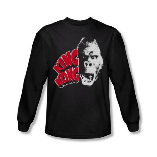 King Kong-Testa da Kong-Camicia a maniche lunghe, colore: nero