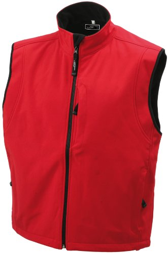 JAMES & NICHOLSON Softshellweste - Blouson - Homme Rouge (red)