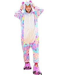 Pijama Unicornio Adulto - Cosplay Animal Disfraz Pyjamas Mujer Hombre Traje de Navidad