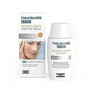 FotoUltra 100 ISDIN Active Unify SPF 50+, aclara y unifica el tono de piel, 50 ml