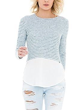 SALSA Camiseta manga larga rayas