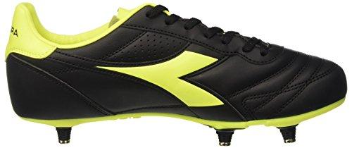 Diadora Herren Brasil R Sc Fußball-Trainingsschuhe Nero (Nero/Giallo Fluo Diadora)