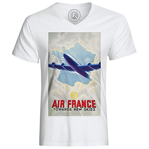 Fabulous T-Shirt Air France New Skies Retro Vintage Commercials Affiches