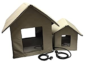 Petnap Heated Pet House, Dog-Cat-Kitten-Puppy Kennel Bed Shelter (Large)
