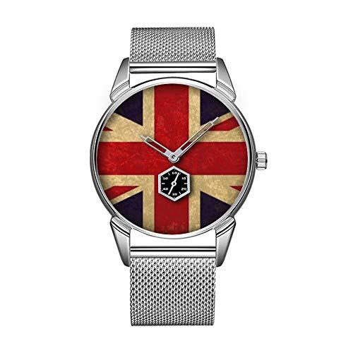 Mode wasserdicht Uhr minimalistischen Persönlichkeit Muster Uhr -914. Vintage GroßBritannien Flag Watch Großbritannien-flags