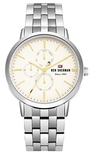 Ben Sherman Reloj Análogo clásico para Hombre de Cuarzo con Correa en Acero Inoxidable WBS104SM