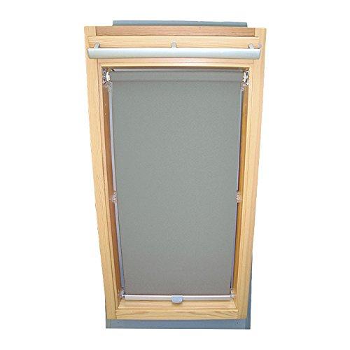 Easy-Shadow Dachfenster Sichtschutzrollo Basis Rollo für Typ Roto WDF Designo R6 / R8 / R84 / R85 / R86 / R88 / R89 / R6_K/H R8_K/H R8_K/H SR Größe 6/11 - in der Farbe grau