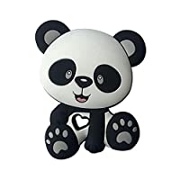 HNDHUI Panda Beads Baby Toys Silicone Teether Pacifier Teething DIY Chain Biting Chew Pendant for Children Infants