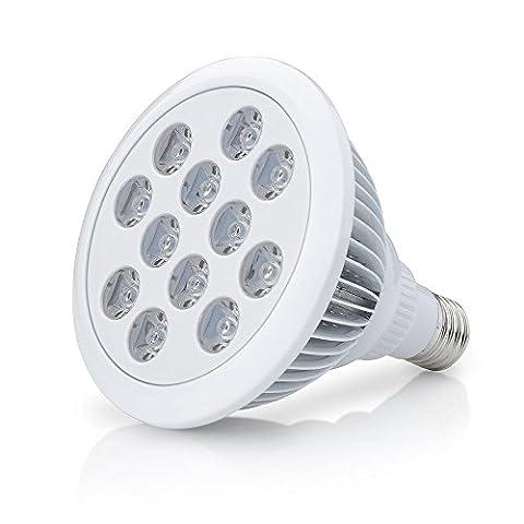 Top-Longer Pflanzenlampe 12W E27 LED Pflanzenlampe für Zimmerpflanzen, Blumen und