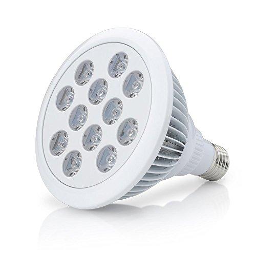 Top-Longer Pflanzenlampe 12W E27 LED Pflanzenlampe für Zimmerpflanzen, Blumen und Gemüse