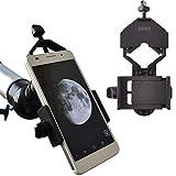 gosky Universal teléfono Móvil Soporte de Adaptador–Compatible con Prismáticos Monocular Telescopio Terrestre telescopio Microscope-for iPhone Sony Samsung etc.