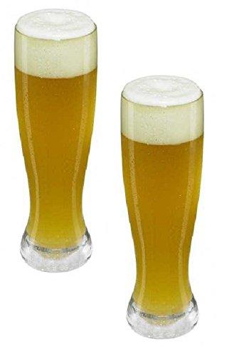 Viva Haushaltswaren bruchfestes Gläser Set aus hochwertigem Kunststoff (500 ml Weizenglas)