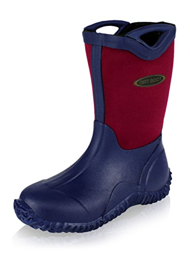 Dirt Boot® Boys Girls Neoprene Wellington Muck Field Wellies Kids Bootie Boots