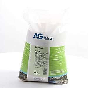 25Kg Filtersand 0.4-0.8 mm Poolfilter Quarzsand für Sandfilteranlage