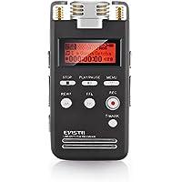 EVISTR Grabadora de Voz Digital 8GB Portatil Dictáfono Grabadora de Sonido de Calidad PCM Lineal 1536Kbps Etiquetado Grabadora de Voz Estéreo de Grabación con Reproductor de MP3 Favorito de Micrófono